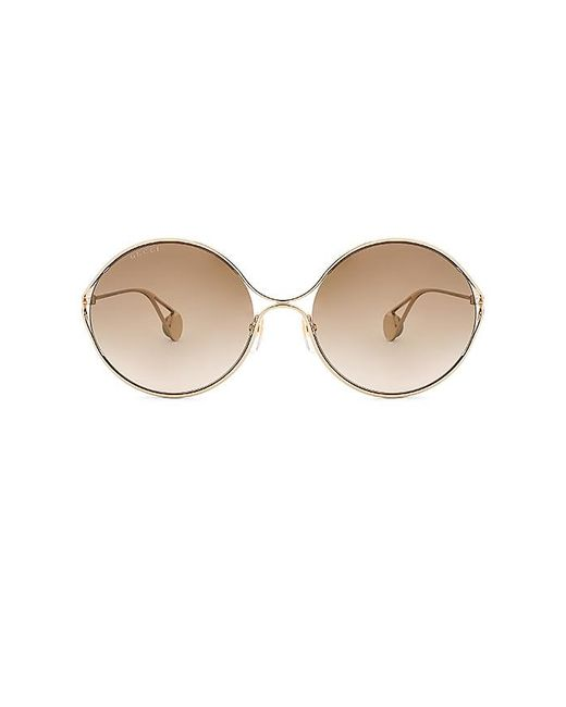 Gucci - Multicolor Round Metal In Metallic Gold. - Lyst