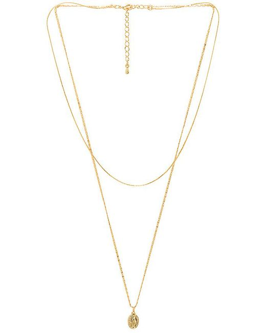 Five And Two - Metallic Faith Layered Necklace In Gold. - Lyst
