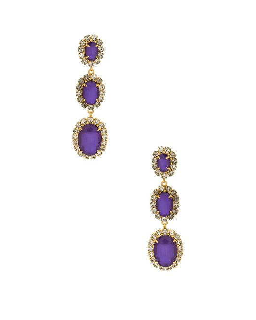 Elizabeth Cole - Metallic Lawrence Earrings In Purple. - Lyst