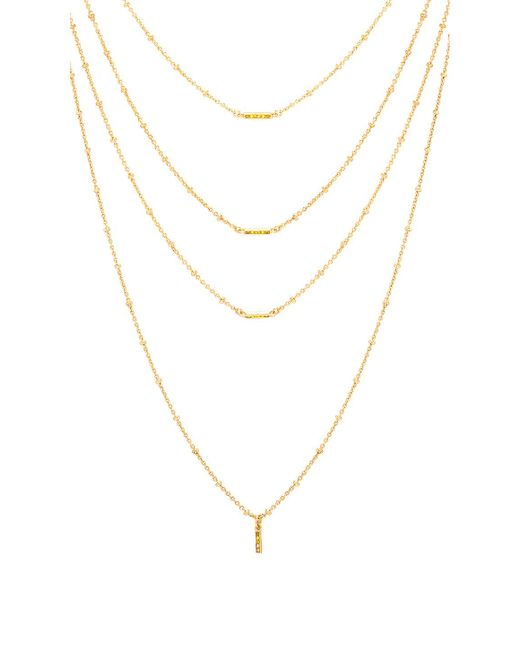 Luv Aj - Ombre Bar Multi Charm Necklace In Metallic Gold. - Lyst