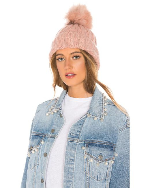 Hat Attack - Multicolor Slouchy Rib Beanie In Pink. - Lyst