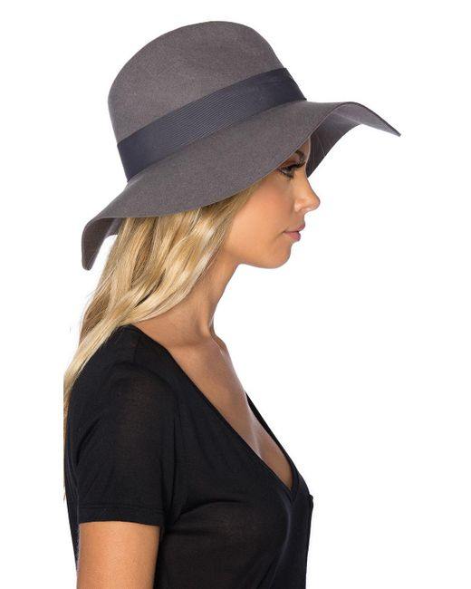 7bec0b9e37855 ... italy brixton gray piper hat in grey lyst b359b 53b2a