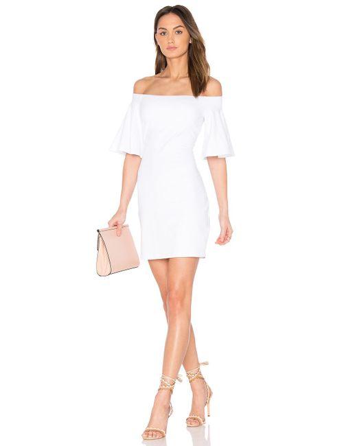 Susana Monaco - White Flutter Sleeve Dress - Lyst