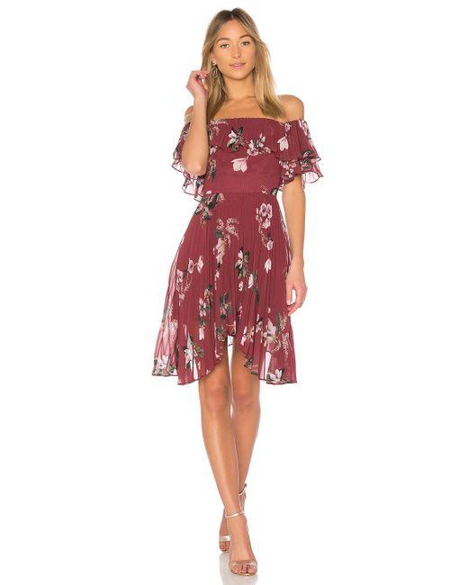 Keepsake - Red Last Dance Ruffle Mini Dress - Lyst