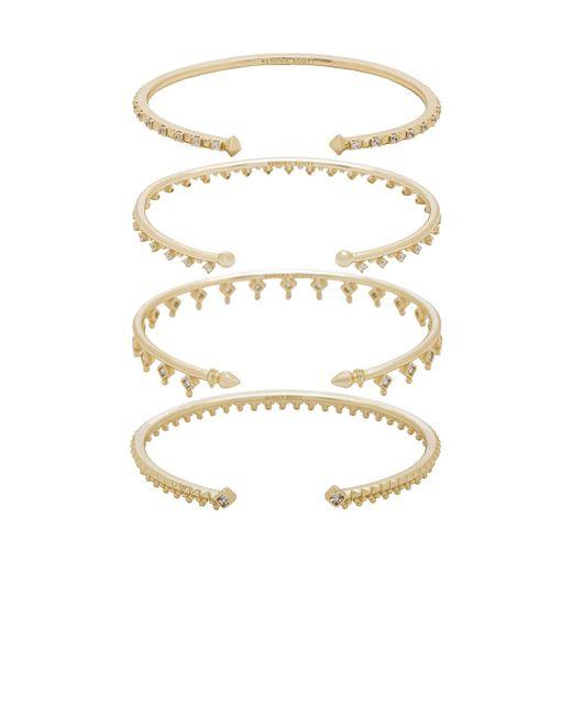 Kendra Scott - Metallic Delphine Pinch Bracelet Set Of 4 - Lyst