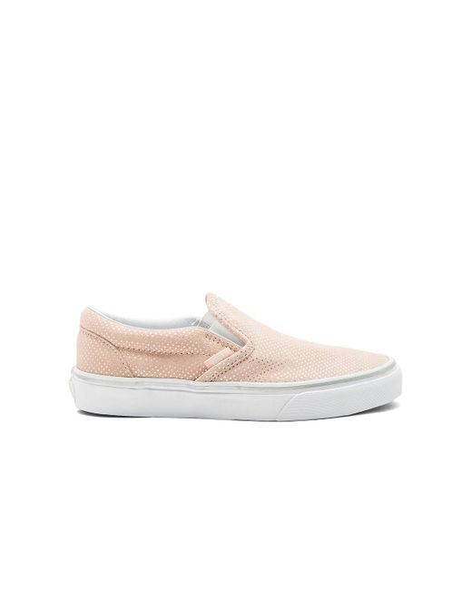 Vans | Pink Classic Slip-on Sneaker | Lyst