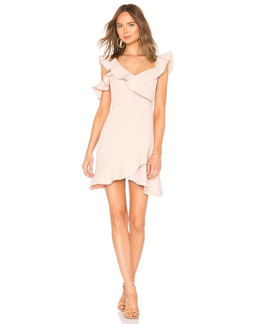BCBGMAXAZRIA - Pink Malik Asymmetrical Dress - Lyst