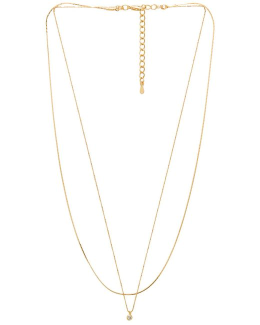 Five And Two - Metallic Madison Necklace In Gold. - Lyst