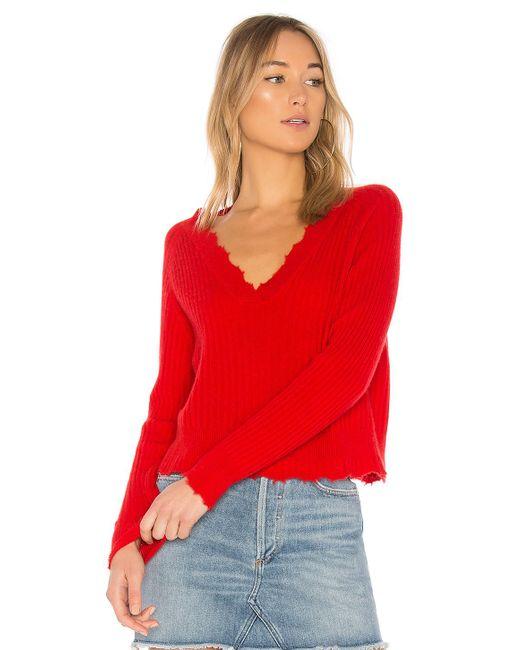 27 Miles Malibu - Bette Sweater In Red - Lyst