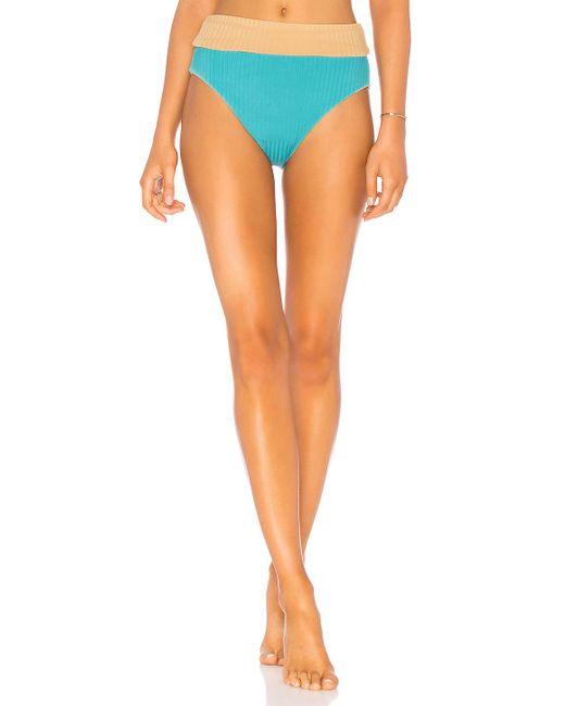 Cali Dreaming - Orange Reel Bikini Bottom In Tan - Lyst