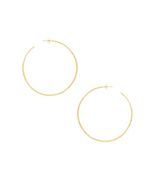 Gorjana - Taner Xl Hoop Earrings In Metallic Gold. - Lyst