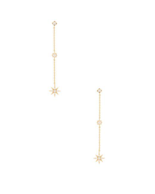 Child Of Wild - Metallic Starburst Dangle Earrings In Gold. - Lyst