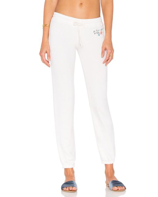 Spiritual Gangster - White Aloha Hibiscus Bliss Sweatpant - Lyst