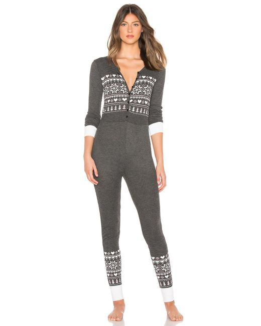 Wildfox - Black Fair Isle Onsie - Lyst