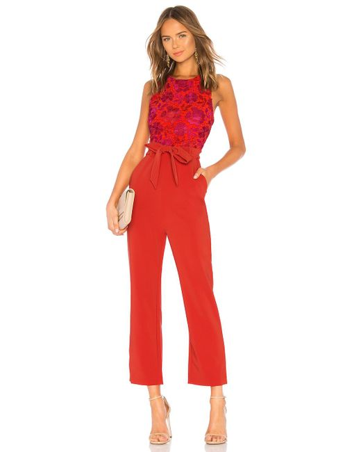Lovers + Friends - Red Gardanome Jumpsuit - Lyst