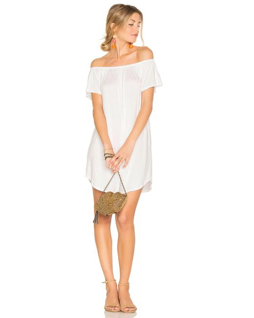 NYTT | White Milan Off The Shoulder Dress | Lyst