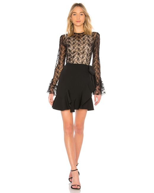 Goen.J - Black Lace Long Sleeve Dress - Lyst
