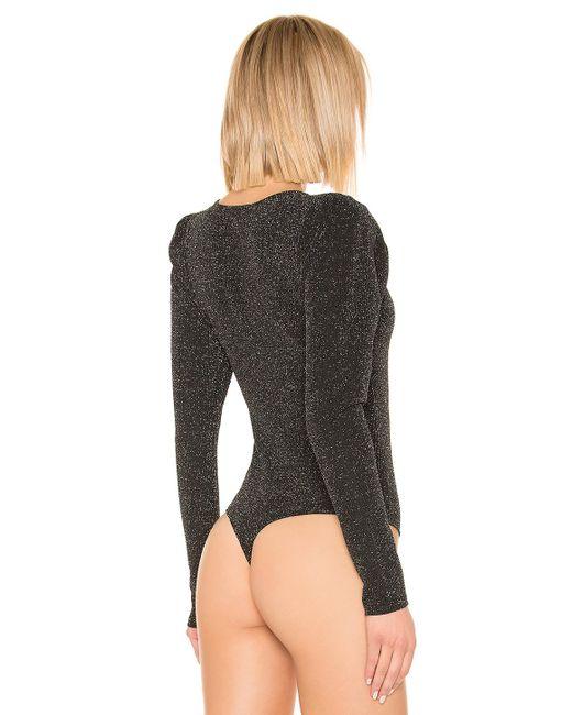 594ca64a7 PAIGE Samina Bodysuit in Black - Lyst