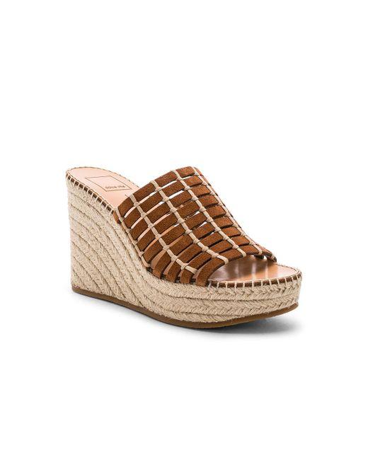 f115a5bd6028 Lyst - Dolce Vita Prue Wedge Sandal in Brown - Save 34%