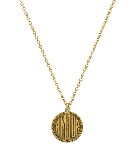 Natalie B. Jewelry - Amour Charm Necklace In Metallic Gold. - Lyst