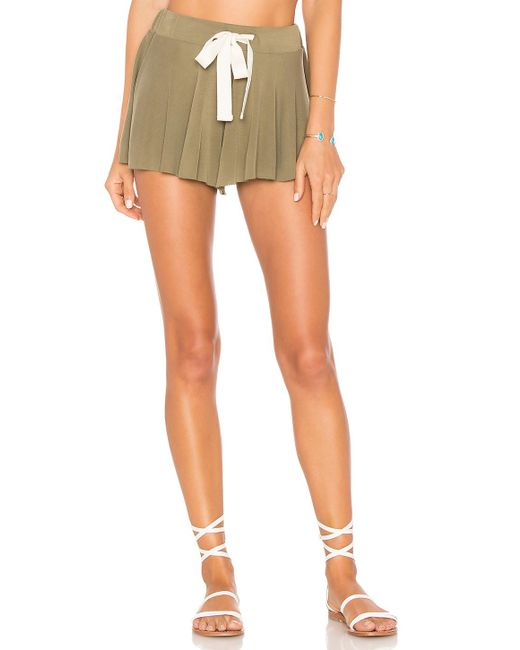 Free People - Multicolor Legs For Days Short In Olive - Lyst