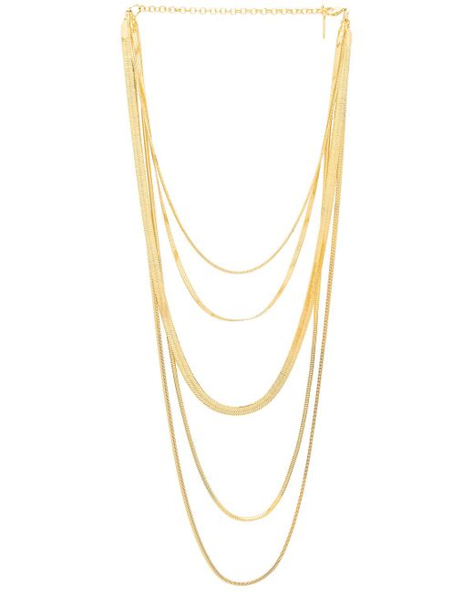 Luv Aj - The Cascading Snake Chain Necklace In Metallic Gold. - Lyst