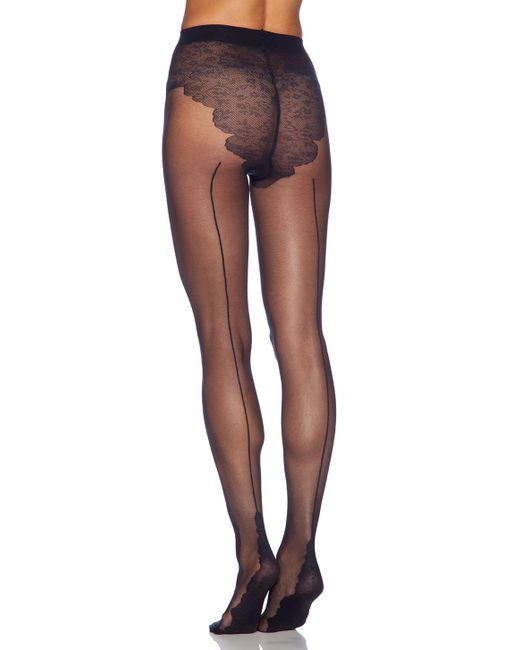 Pretty Polly - Black Backseam Tights - Lyst