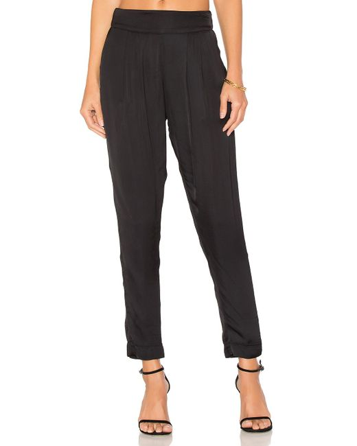 Enza Costa - Black Pleated Easy Pant - Lyst