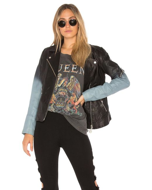 Doma Leather | Black Ombre Moto Jacket | Lyst