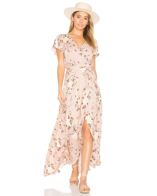 Auguste Valentine Muse Maxi Dress In Pink Lyst
