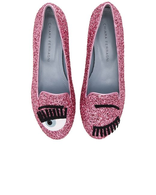 Chiara Ferragni | Pink Flirting Sleeper Loafer | Lyst