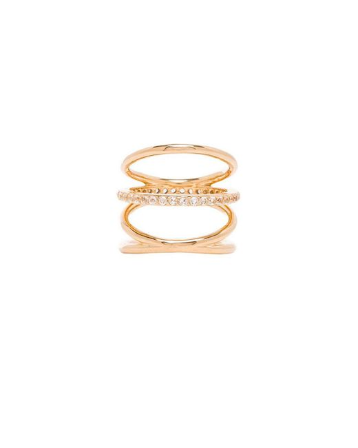 Elizabeth and James | Metallic Mondrian Ring | Lyst