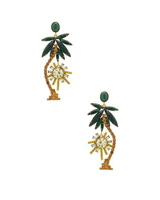 Elizabeth Cole | Metallic Palm Tree Earrings | Lyst