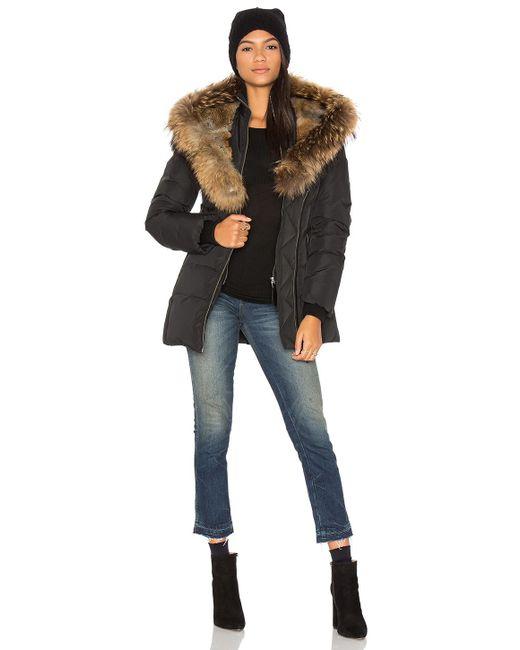 Mackage   Black Akiva Asiatic Raccoon Fur And Rabbit Fur Coat   Lyst