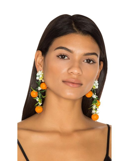 Mercedes Salazar | Fiesta Orange Tree Earrings | Lyst