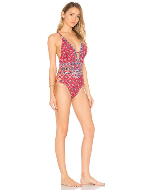 Nanette Lepore | Red Pretty Tough Goddess One Piece | Lyst