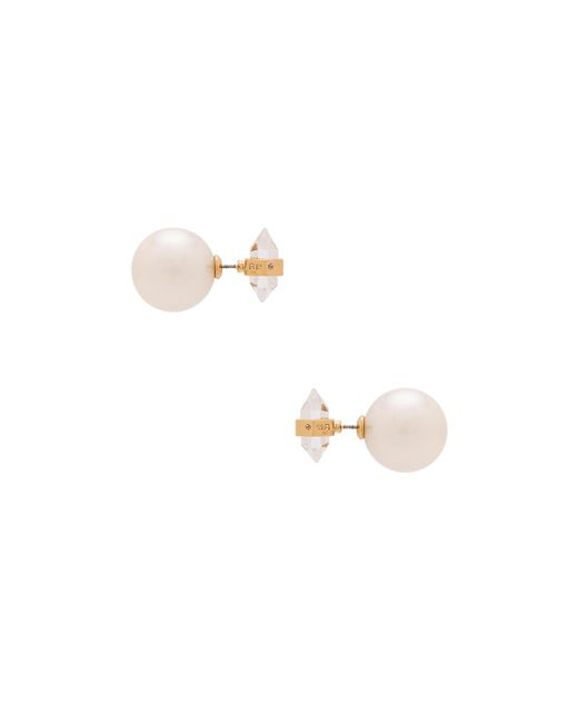 Rebecca Minkoff | Metallic Rock Pearl Earrings | Lyst