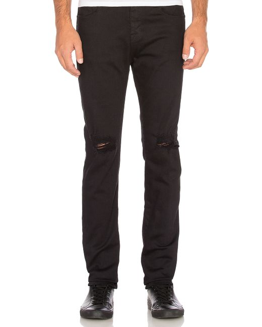 Stampd | Black Essential Knee Split Denim | Lyst