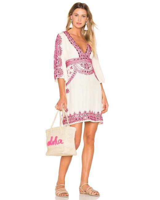 Tessora | Multicolor Short Kaftan Dress | Lyst