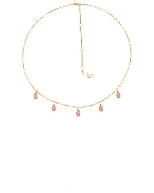 Melanie Auld | Metallic Stone Drop Necklace | Lyst
