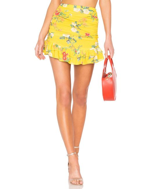 Lovers + Friends - Yellow Brooke Skirt - Lyst