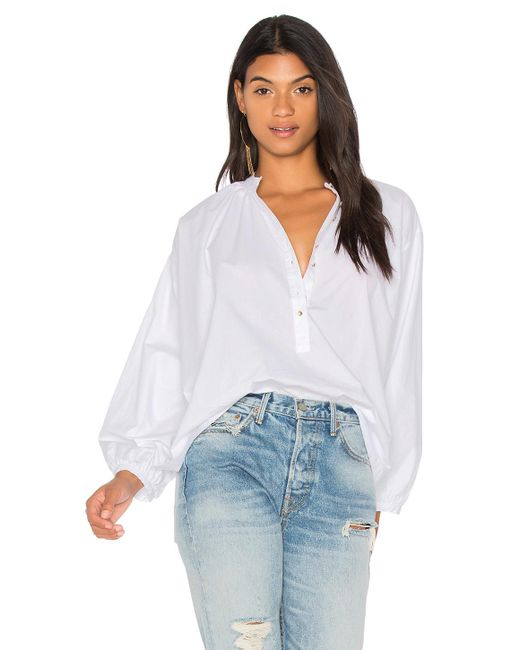 Free People | White Hey Baby Top | Lyst