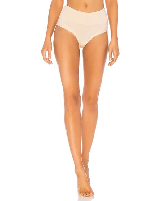 Yummie By Heather Thomson - Multicolor Tummie Tamer Thong In Cream - Lyst