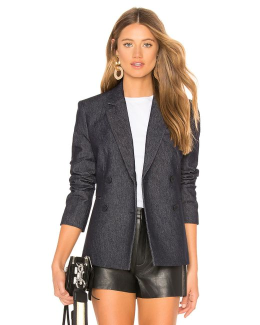 Theory - Blue Double Breasted Blazer In Slate - Lyst