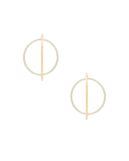 Rebecca Minkoff | Metallic Mixed Metal Satellite Hoops | Lyst