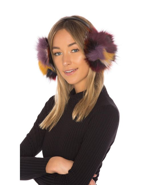 Hat Attack | Multicolor Luxe Earmuff With Fox Fur | Lyst