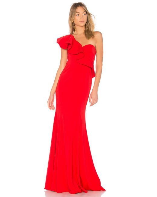 Jay Godfrey - Red X Revolve Bolt Gown - Lyst