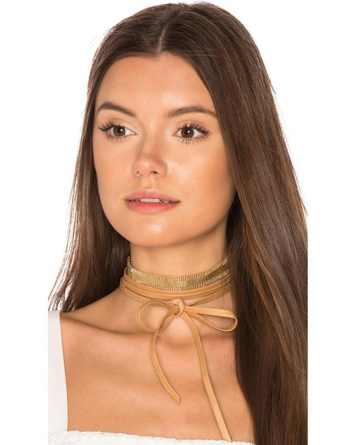 Joolz by Martha Calvo | Multicolor Mesh Leather Wrap Choker | Lyst