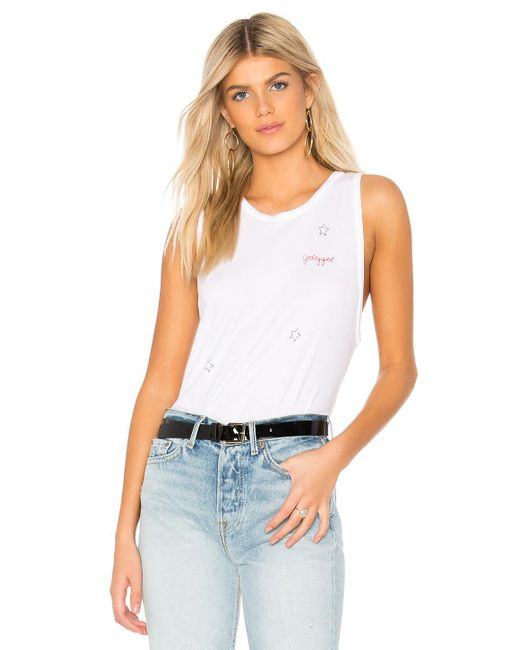 Lauren Moshi - Peyton Jetlagged Tank In White - Lyst