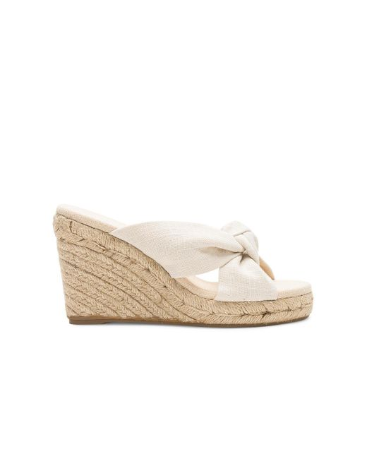 Soludos - Natural Knotted Wedge (90mm) In Beige - Lyst